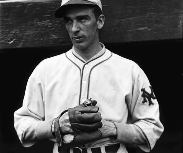Carl Hubbell's first major league victory is a 4 – 0 shutout of the Phils. He'll be 10 – 6 down the stretch and will pitch 16 years with the Giants.