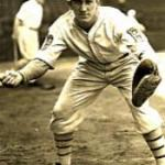 """Al Lopez of the Brooklyn Dodgers hits the final """"ground rule home run"""" in major league history"""