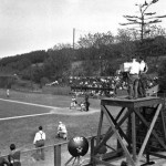 "The first baseball game ever televised - Princeton against Columbia at the Baker Bowl - is watched by a handful of viewers via W2XBS in New York City. Bill Sternannounces the ten-inning victory of visiting Princeton, 2 - 1. Reviewing the game the next day, the New York Times reports: ""it is difficult to see how this sort of thing can catch the public fancy."""