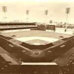 Cleveland Indians and Philadelphia Athletics play the first night game in American League history
