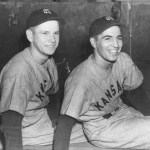 In anexhibition gamethat might be aspring trainingrecord of sorts, the Triple-AKansas City Bluespound theWashington Senators, 22 - 5. The Blues collect 23 hits for 46 total bases.Frenchy Bordagaraystarts the scoring with a home run in the 1st inning;Jack Saltzgaverhits three triples in three at-bats with five RBI. Another familiar name,Johnny Lindell, yields three hits in three innings on the mound for the Blues.