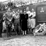 A center field monument dedicated to Lou Gehrig is unveiled by the Yankees. The memorial is a tribute by his teammates of their beloved captain who died last month of amyotrophic lateral sclerosis (ALS).