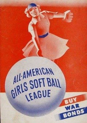 """1943–Chicago CubsownerPhilip WrigleyandBrooklyn DodgersexecutiveBranch Rickeydraw up charter for the """"All-American Girls Softball League"""", which will eventually become theAll-American Girls Professional Baseball League(AAGPBL). The league, originally conceived in the belief that the major leagues would suspend play because ofWorld War II, will operate from1943to1954around theChicagoarea. When the league changes its name and switches to hardball, the pitching distance is 40 feet and bases 68 feet apart. After struggling through poor attendance in its early seasons, the league will draw over one million fans in1948."""