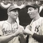 Dolph camilli with Joe DiMaggio