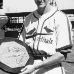OfficialNational Leaguestatisticspublished today showBrooklyn'sDixie Walkerat the top of the hitters with a .357batting average, ahead ofStan Musialat .347. In an even closer vote than occurred in theAmerican League, theNational League Most Valuable Player Awardgoes to fielding wizard shortstopMarty Marionof theCardinals, who tallies one more vote thanCubssluggerBill Nicholson(189). The Cardinals committed only 112errorsand fielded .982, both better than previous records held by the1940 Cincinnati Reds. Marion is the third different Cardinals player in three years to win MVP honors.