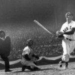 Ted Williams, playing in the All-Star Game, homers on the famed blooper pitch thrown by Rip Sewell of the Pittsburgh Pirates