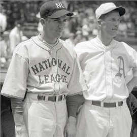 Mickey Cochrane, Frankie Frisch, Lefty Grove, and Carl Hubbell are inducted into the Hall of Fame.