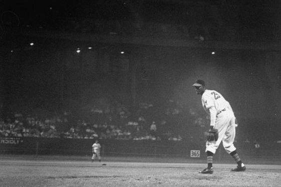 The largest crowd (78,382) ever to attend a night game sees Satchel Paige become the fourth consecutive Indian to throw a shutout. The ageless wonder joins Gene Bearden, Sam Zoldak, and Bob Lemon in blanking the opposition.