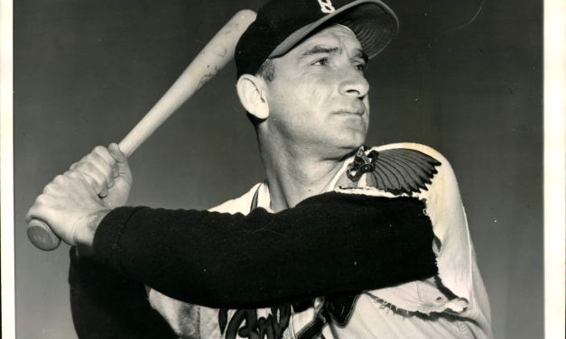 Sid Gordon of the Boston Braves hits the first National League grand slam of the season