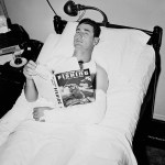 Ted Williams fractures Elbow in first network televised an All-Star Game