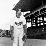 1951-Don Newcombegives up a 1st-inning single toRalph Kinerin beating theBucson aone-hitter, 13 - 1. TheDodgersjump onBill Werleand successors for 16 hits, including homers byCarl FurilloandRocky Bridges.