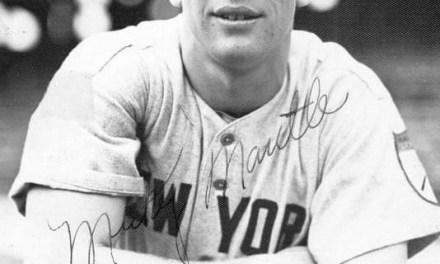 Before 66,110 atCleveland,Mickey Mantlebelts an opposite field 2-run homer offMike Garciato help theYankeeswin, 7 – 3. New York (77-46) moves to a game back of the Tribe.