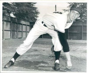 Ron Necciai of the Bristol Twins strikes out 27 batters in throwing a 7-0 no-hitter