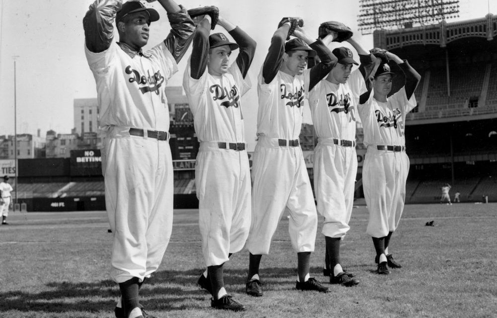Dodgers defeat the A's, 4-2, in the first game played in Holman Stadium