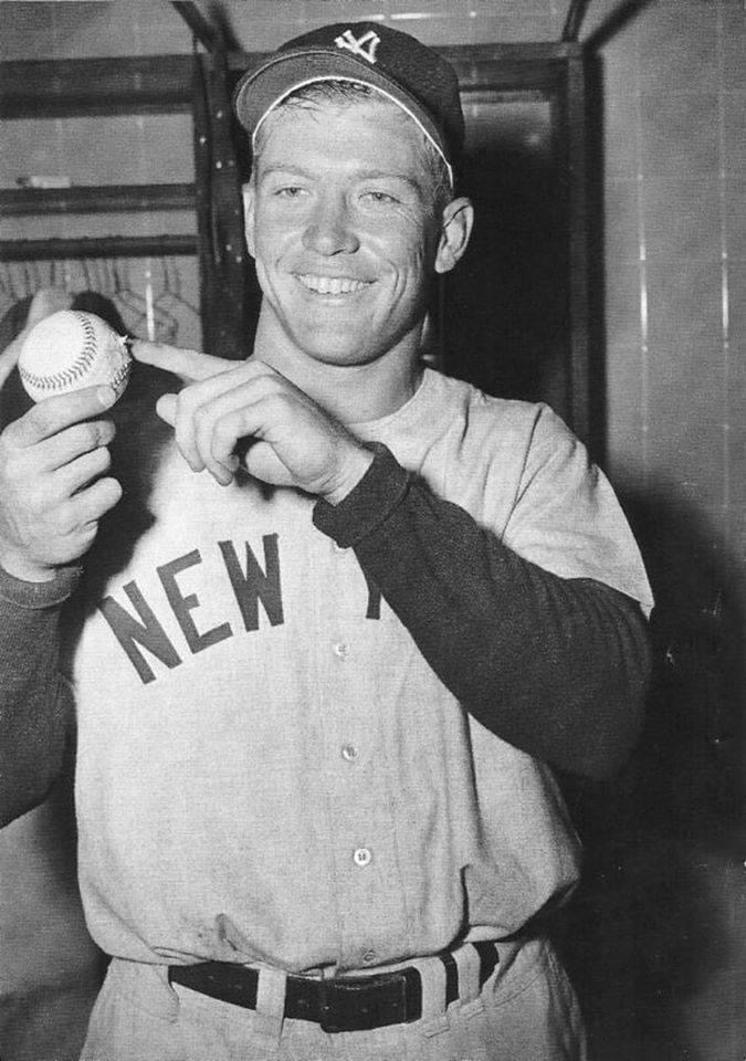 mickey mantle hits what is believed to be the home