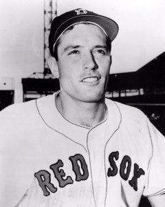 Jimmy Piersall of the Boston Red Sox goes 6-for-6 in the first game of a doubleheader