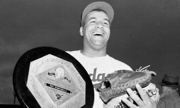 Future Hall of Famer Roy Campanella (.312, 41, 142) is named the National League's MVP for the second time. The Dodger catcher also copped the prize in 1951 and will win the honor again in 1955, joining Stan Musial as the circuit's second three-time recipient of the award.