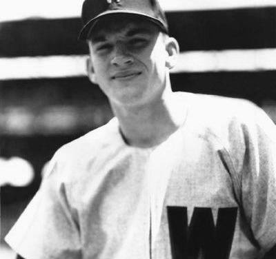 """In an 18 – 7 loss to theTigers,Senators18-year-old rookie third basemanHarmon Killebrewhits his first major leaguehome runoffBilly Hoeft. """"Killer"""" will finish his 22-yearHall of Famecareer with 573 homers."""