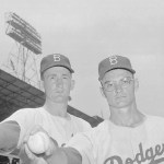 In what will be their most important move of the season, the Brooklyn Dodgers bring up rookie pitchers Roger Craig and Don Bessent from the minor leagues. They immediately pay dividends as they beat the Redlegs in both ends of a doubleheader. Craig wins, 6 - 2, and Bessent matches it, 8 - 5.