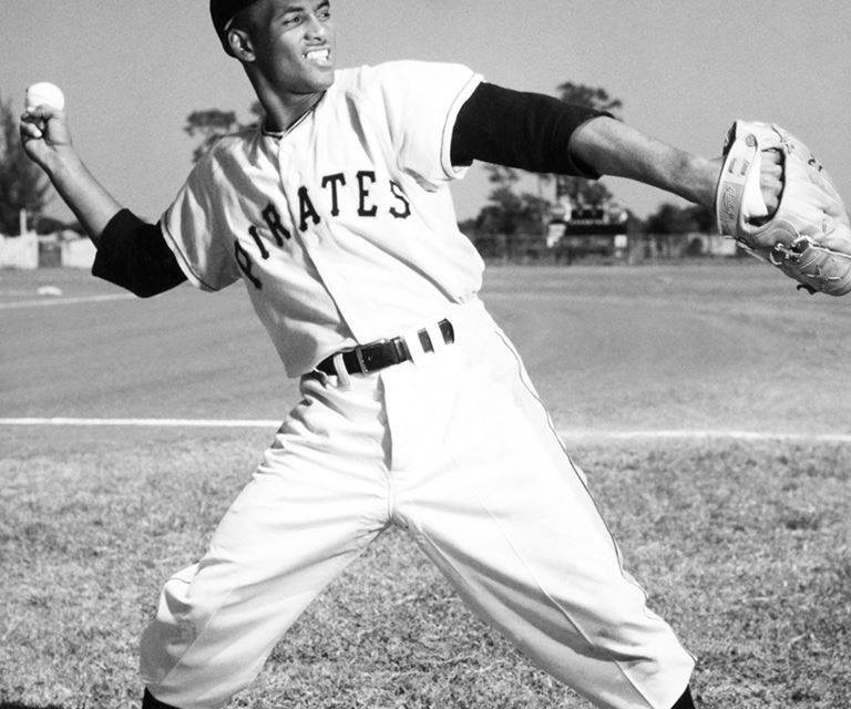 "Pirates second-year man Roberto Clemente hits Pittsburgh's inaugural dinger of spring training in an in-house affair, coached by two key figures in Clemente's career: ""Roberto Clemente slammed three hits today,"" reports the Associated Press, ""including the first homer by a Pittsburgh Pirate, as the 'Sukeforths' defeated the 'Murtaughs' 9 – 3 in an intra-squad game."""
