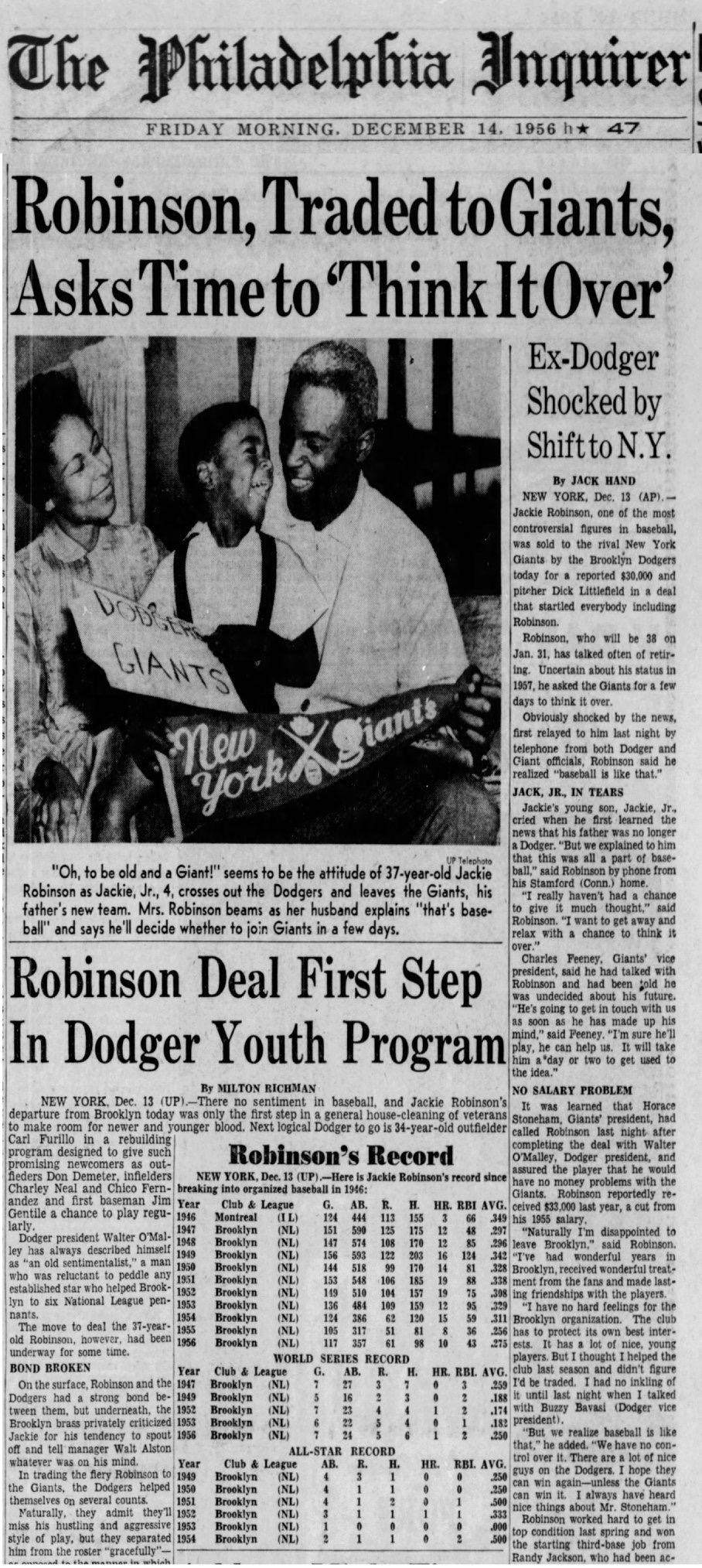 Jackie Robinson Philadelphia inquirer