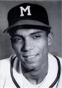 Bill Bruton, in both the first and the sixth inning of the nightcap of a twin bill at County Stadium, hits a three-run triple. The Braves center fielder's pair of three-baggers with the bases loaded contributes to the team's 11-5 victory over St. Louis.
