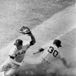 At Dodger Stadium, the Giants beat Los Angeles, 6-4, to take the rubber game of the best-of-three National League playoffs, clinching the National League pennant. LA shortstop Maury Wills sets a major league record for the most games played in a season, appearing in all of his team's 165 games.