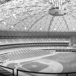 At a cost of $20,000, the original Astrodome ceiling is painted because the sun's glare makes fielding fly balls hazardous. This will cause the grass to die and spur the introduction of artificial turf next season.
