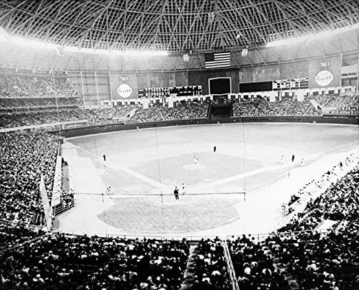 In the first inning of a 5-2 loss to San Francisco, Jimmy Wynn is unable to catch Jim Ray Hart's two-out routine fly ball when he loses the ball in the glare of diffused Texas sunlight streaming through plastic panes of the newly-opened Astrodome. The play, now a base-clearing inside-the-park three-run home run instead of an easy third out, results in the painting of the ballpark's ceiling the next day and will lead to the use of Astroturf next season because the grass will be unable to be grown due to the reduced amount of sunlight.