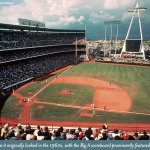 California Angels play their first game at Anaheim Stadium
