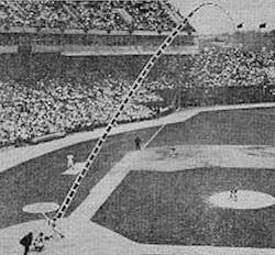 Orioles' outfielder Frank Robinson becomes the first (and only) player to hit a home run completely out of Baltimore's Memorial Stadium. The 451-foot wind-assisted blast, which clears the fifty rows of the left-field seats near the foul pole, before rolling to a stop 540 feet from home plate, comes off a fastball thrown by Indians' starter Luis Tiant, who hadn't given up an earned run on the season.