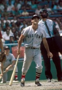 Triple Crown winner Carl Yastrzemski (.326, 44, 121), receiving 19 of 20 first-place votes, is selected by the BBWAA as the American League Most Valuable Player. A writer puts the light-hitting Twins infielder Cesar Tovar (.267, 6, 47) on the top of his ballot, denying the 28 year-old Red Sox outfielder of being the unanimous choice for the award.