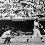 July 14, 1968: Braves outfielder Henry Aaron goes deep off the Giants Mike McCormick to become the 8th MLB player to reach 500 career home runs.