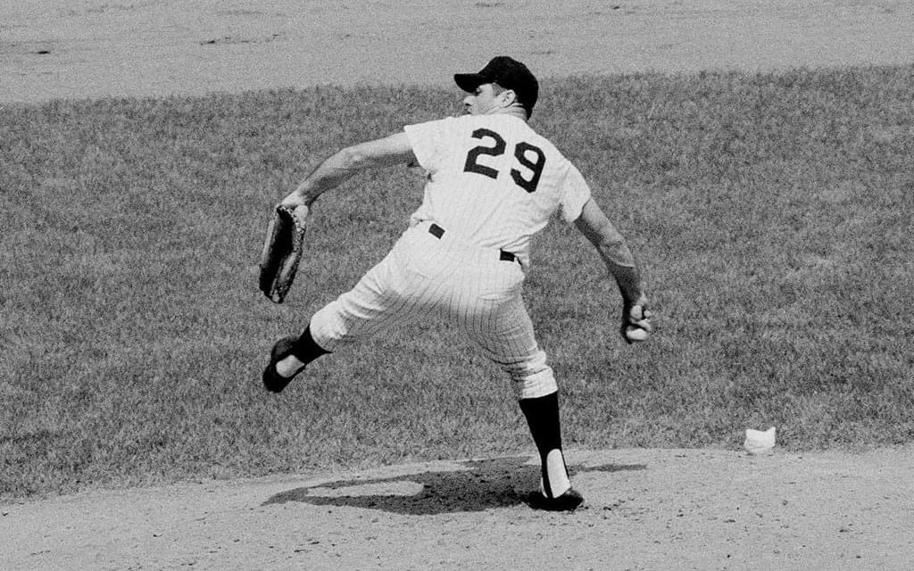 The Tigers, ahead 5 – 0, fail to score with two on in the 4th inning when the Yanks bring in Rocky Colavito to pitch. The 35-year-old slugger retires Al Kaline and Willie Horton and tosses 2 2/3 innings of scoreless relief to earn the win. In Rocky's only other appearance, in 1958, he also faced Kaline, and the victory by a non-pitcher will be the last this century. Bill Robinson and Bobby Cox crash successive homers to tie the score and, after a walk, Rocky comes around to score the winning run. In the 8th, Yankees reliever Lindy McDaniel ties the American League record for consecutive batters retired by setting down the first Tiger he faces, giving him 32 straight batters retired over four appearances. New York sweeps, winning 6 – 5 and then topping Mickey Lolich, 5 – 4. The four losses in New York leaves the Tigers just five games ahead of the Orioles.