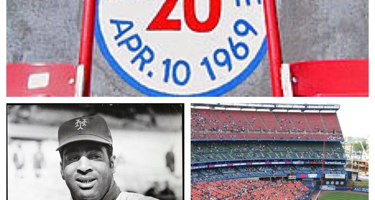 Tommie Agee of the New York Mets hits a monster shot into the upper deck in left field making it the longest home run to reach the seats in Shea Stadium history.