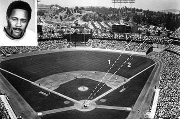 Willie Stargell becomes the first player to hit a home run completely out of Dodger Stadium.