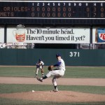 Tom Seaver of the New York Mets pitches to the Baltimore Orioles during Game 4's 9th inning of the 1969 World Series at Shea Stadium. Flushing, New York 10/15/1969 (Image # 1179 )