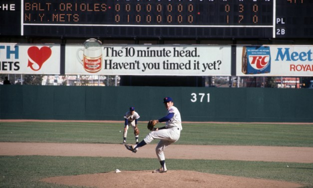 In Game 4 of the Fall Classic at Shea Stadium, Tom Seaver and the Mets beat the Orioles in ten innings, 2-1