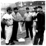 In the last game ever played atCrosley Field,Lee MayandJohnny Benchhit back-to-back home runs in the 8th offJuan Marichalto give theRedsa 5 - 4 win. After the game,home plateis presented to Mayor Eugene Ruehlman and is flown by helicopter to the Reds' new home,Riverfront Stadium.
