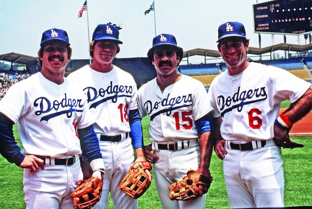 TheLos Angeles DodgersinfieldofSteve Garvey(1B),Davey Lopes(2B),Ron Cey(3B) andBill Russell(SS) plays together for the first time in a 16 – 3 loss to thePhiladelphia PhilliesatVeterans Stadium. The infield quartet will set a major league record for longevity by playing 8 1/2 years together.