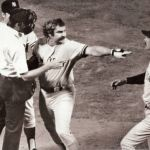 Thurman Munson is ruled out for using an illegal bat that has too much pine tar
