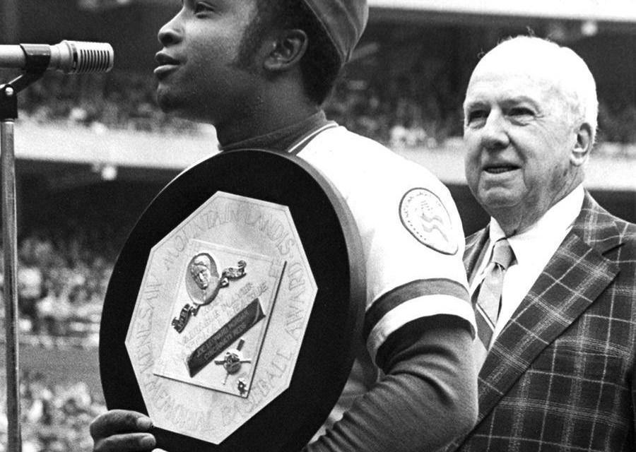 Joe MorganoutpointsCincinnati RedsteammateGeorge Fosterto win his second straightNational League MVP Award. Morgan hit .320 with 27 home runs, 111 RBI, 113 runs, 60 stolen bases, and led theNLin slugging percentage (.576) and OPS (1.020). Foster finished with 29 home runs and led the league in RBI (121).