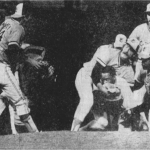 george scott charges the mound