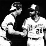Dale Murphy and Gene Garber after ending Roses Streak