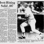 At Milwaukee's County Stadium, George Brett strokes four singles and a double in 5 at-bats as the Royals edge the Brewers, 7 - 6. The Kansas City third baseman's 5 for 5 performance raises his league-leading batting average to .407.