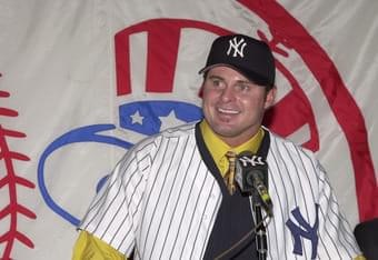 The Yankees sign free agent 1B Jason Giambi to a seven-year deal worth $120 million. The 2000 MVP and this year's runner-up drove in 120 runs, hit 38 home runs, and had a .342 batting average for the wild card Oakland A's this season. In another move, New York acquires OF John Vander Wal from San Francisco in exchange for P Jay Witasick.
