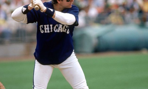 Carlton Fisk of the Chicago White Sox catches his 2,226th major league game, breaking the record held by Bob Boone