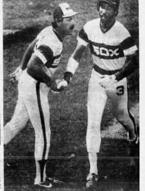 Harold Baineshits three consecutive home runs, including agrand slam, to lead theWhite Soxover theTigers, 7 – 0.