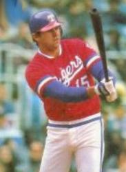 Larry Parrish of the Texas Rangers ties a major league record by clubbing his third grand slam within the span of a week