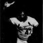 Joaquin Andujar hits a grandslam vs the Braves - during his career he never gave up a grandslam